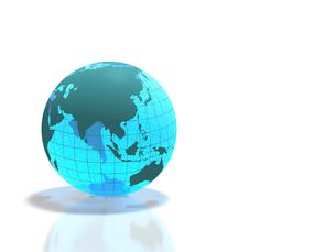 半透明な地球儀の写真素材 [FYI02504056]