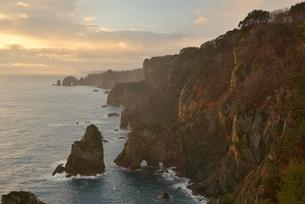 夜明けの海岸の写真素材 [FYI02504636]