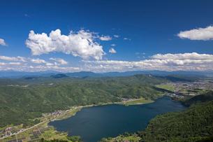 小熊山より木崎湖の写真素材 [FYI02508127]