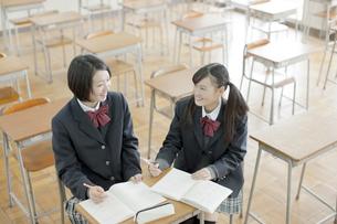 一緒に勉強する女子校生の写真素材 [FYI02509444]