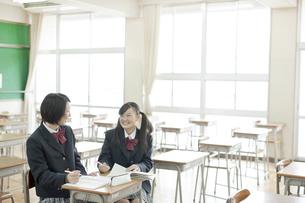 一緒に勉強する女子校生の写真素材 [FYI02510049]