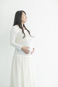 お腹に手をあてる妊婦の写真素材 [FYI02511593]