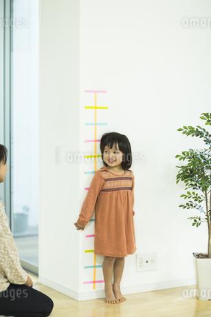 身長を測る女の子の写真素材 [FYI02513215]