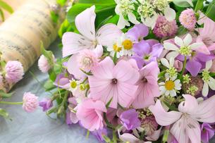 小花と楽譜の写真素材 [FYI02514941]