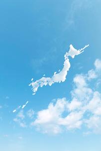 雲の日本地図の写真素材 [FYI02516905]