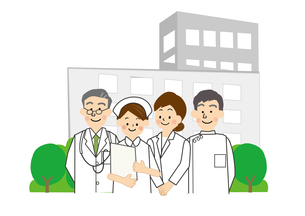 病院 医師 看護師のイラスト素材 [FYI02523525]
