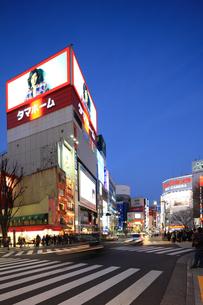 夕暮れの新宿駅東口の写真素材 [FYI02525825]