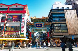 横浜 中華街の善隣門の写真素材 [FYI02527001]