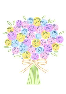 笑顔の花束のイラスト素材 [FYI02528866]