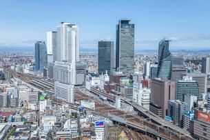 見下ろす名古屋駅風景の写真素材 [FYI02532199]