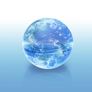 地球と水イメージのイラスト素材 [FYI02533386]