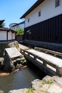飛騨古川、瀬戸川を泳ぐ鯉の写真素材 [FYI02533565]