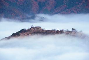 竹田城の雲海の写真素材 [FYI02540590]