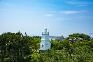 木造六角灯台の写真素材 [FYI02546104]