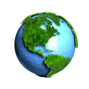 芝生地球アメリカのイラスト素材 [FYI02552841]