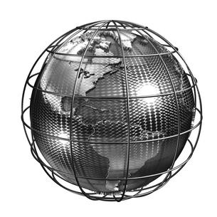 メタル地球アメリカのイラスト素材 [FYI02552842]