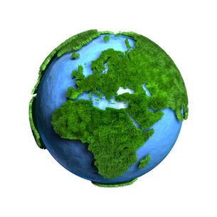 芝生地球ヨーロッパアフリカのイラスト素材 [FYI02552850]