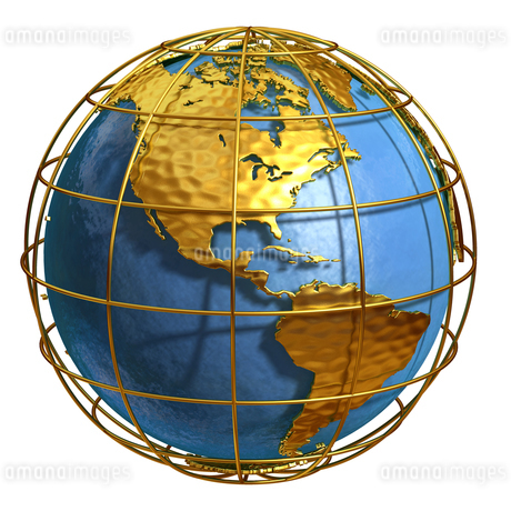 ゴールド地球アメリカのイラスト素材 [FYI02552880]