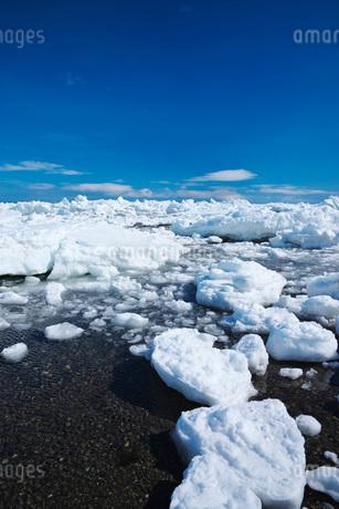 野付半島の流氷の写真素材 [FYI02557309]