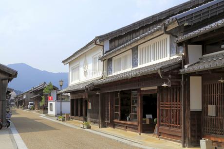 旧東海道関宿の町並みの写真素材 [FYI02559669]