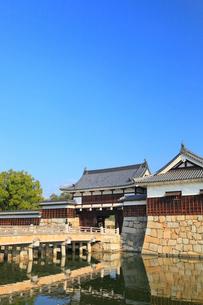 広島城 表御門と御門橋の写真素材 [FYI02560379]