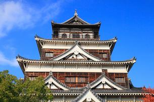 広島城の天守閣の写真素材 [FYI02560385]