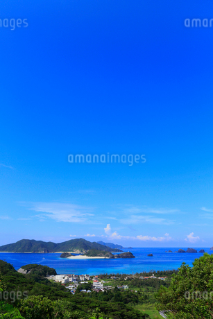 慶良間諸島,座間味島からの展望,嘉比島と阿真ビーチ,の写真素材 [FYI02560677]