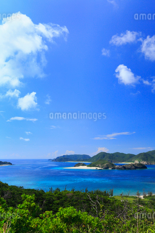 慶良間諸島,座間味島からの展望,嘉比島と阿真ビーチ,の写真素材 [FYI02560771]