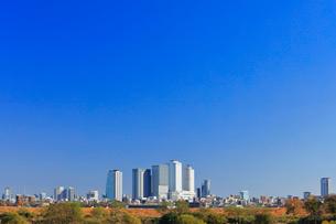 初冬の名古屋駅周辺高層ビルと街並みの写真素材 [FYI02563914]