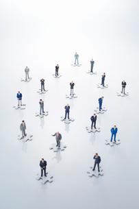 ビジネスマン人脈ネットワークイメージの写真素材 [FYI02564032]