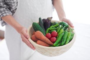 野菜を持つ女性の手の写真素材 [FYI02565164]