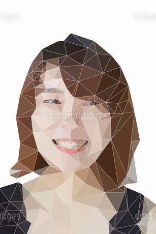 女性の顔のポリゴンのイラスト素材 [FYI02565665]