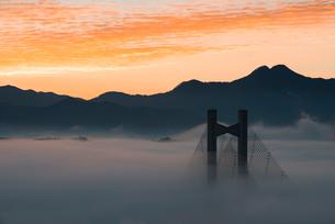 秩父公園橋と雲海の写真素材 [FYI02566256]