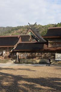 朝の出雲大社本殿の写真素材 [FYI02567472]