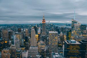 ニューヨーク・トップオブザ・ロックからの眺望の写真素材 [FYI02567956]
