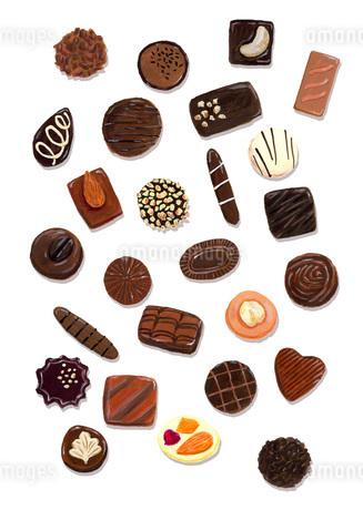 いろいろなチョコレートのイラスト素材 [FYI02569541]