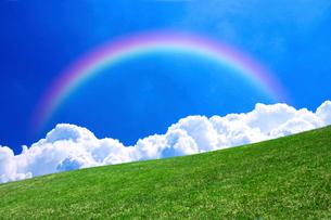 草原と青空の写真素材 [FYI02569666]