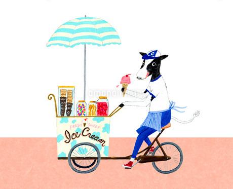 アイスクリームを売る牛のイラスト素材 [FYI02569674]