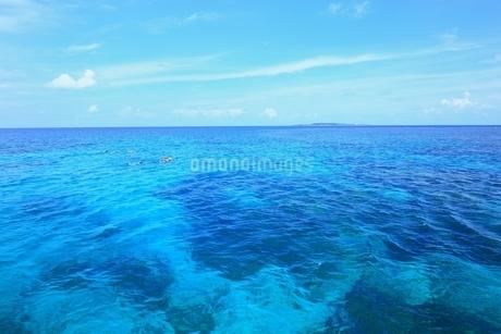 沖縄 西表島 サンゴ礁と青い海の写真素材 [FYI02570263]