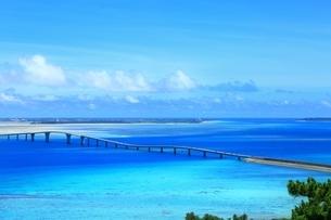 伊良部大橋と青い海の写真素材 [FYI02570368]