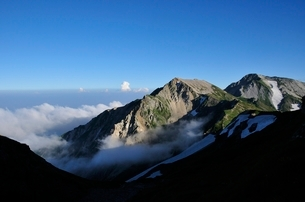 杓子岳と白馬鑓ヶ岳の写真素材 [FYI02570488]