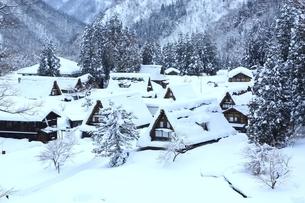 五箇山 雪の相倉合掌集落の写真素材 [FYI02570499]