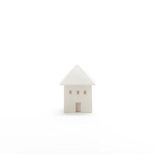 白い建物のオブジェ クラフトの写真素材 [FYI02588188]