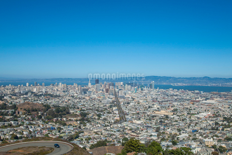 ツインピークスからの遠望 サンフランシスコ アメリカの写真素材 [FYI02595914]