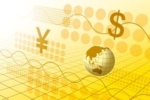 地球と金融イメージ CGのイラスト素材 [FYI02596426]