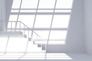 扉と階段のある白い部屋 CGの写真素材 [FYI02597458]