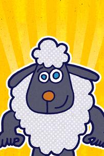 青い瞳の羊 イラストのイラスト素材 [FYI02597607]