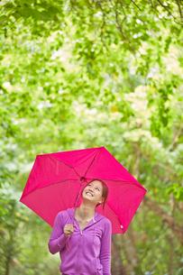 傘をさす女性の写真素材 [FYI02615859]