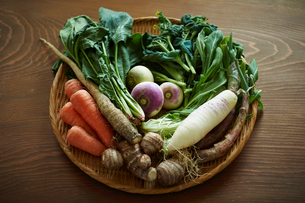 無農薬野菜盛り合わせの写真素材 [FYI02616440]