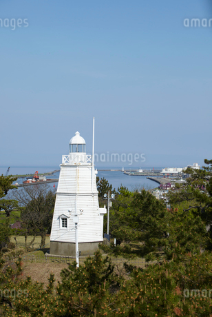 日和山公園の木造六角灯台 山形県の写真素材 [FYI02616497]